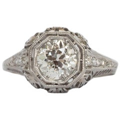 GIA Certified 1.03 Carat Diamond Platinum Engagement Ring