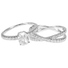 GIA Certified 1.03 Carat White Diamond Oval Solitaire Wedding Bridal Ring