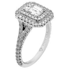 GIA Certified 1.03 Carat Emerald Cut Engagement Ring