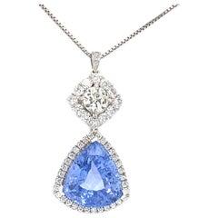 GIA Certified 10.50 Carat Sapphire Pendant