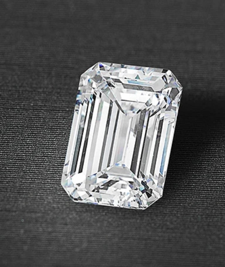 A magnificent diamond 8.67 carat! The diamond has been certified by GIA the top of the line color is I clarity is VVS1 and is a triple excellent cut!! One of a kind a real heirloom piece for your collection.