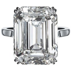 GIA Certified 6.03 Carat Emerald Cut Diamond Ring VVS1 Clarity