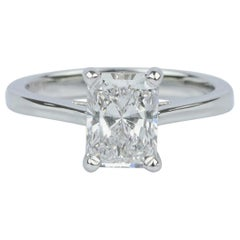 GIA Certified 1.01 Carat Engagement Diamond Radiant Cut Platinum G Color VVS1