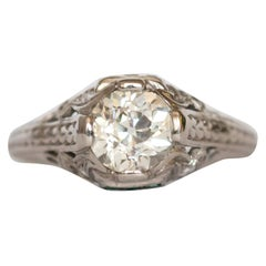 GIA Certified 1.07 Carat Diamond Platinum Engagement Ring