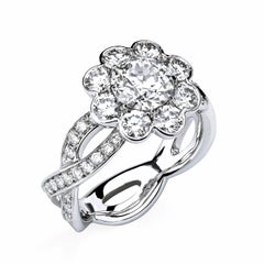 GIA Certified 1.07 Carat I/SI2 Old European Cut Diamond Platinum Engagement Ring