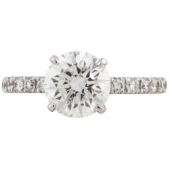 GIA Certified 1.08 Carat Diamond Solitaire Ring