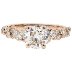 GIA Certified 1.08 Carat Round Cut Center Set in Our CumuLLus Engagement Ring
