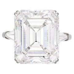 GIA Certified 10Carat Asscher Cut Diamond Ring