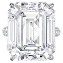 GIA Certified 11 Carat Emerald Cut Diamond Ring