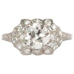 GIA Certified 1.10 Carat Diamond Platinum Engagement Ring