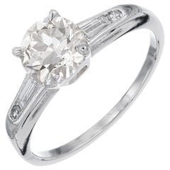 GIA Certified 1.11 Carat Diamond Platinum Engagement Ring