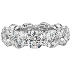 GIA Certified 11.10 Carat Round Diamond Eternity Wedding Band