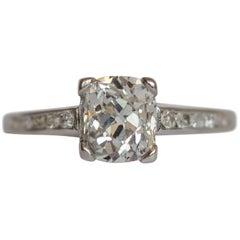 GIA Certified 1.13 Carat Diamond Platinum Engagement Ring