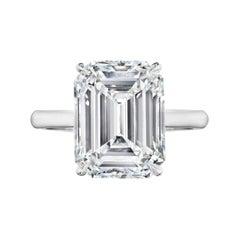 GIA Certified 11.32 Carat Emerald Cut Diamond Engagement Ring