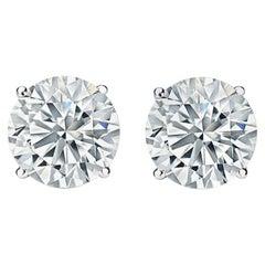 GIA Certified 11.36 Carat Diamond Stud Earrings