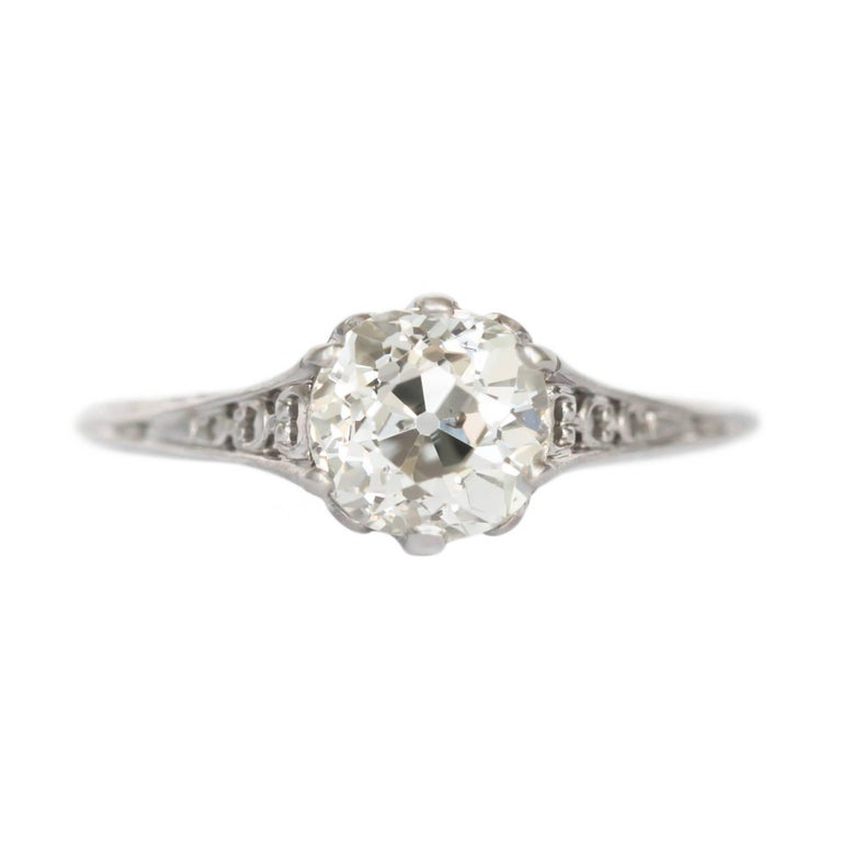 GIA Certified 1.16 Carat Diamond Platinum Engagement Ring