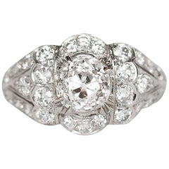 GIA Certified 1.17 Carat Diamond Platinum Engagement Ring
