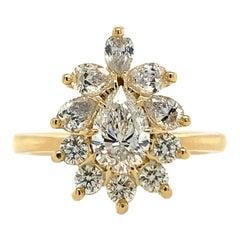 GIA Certified 1.17 Carat Pear Diamond Ring