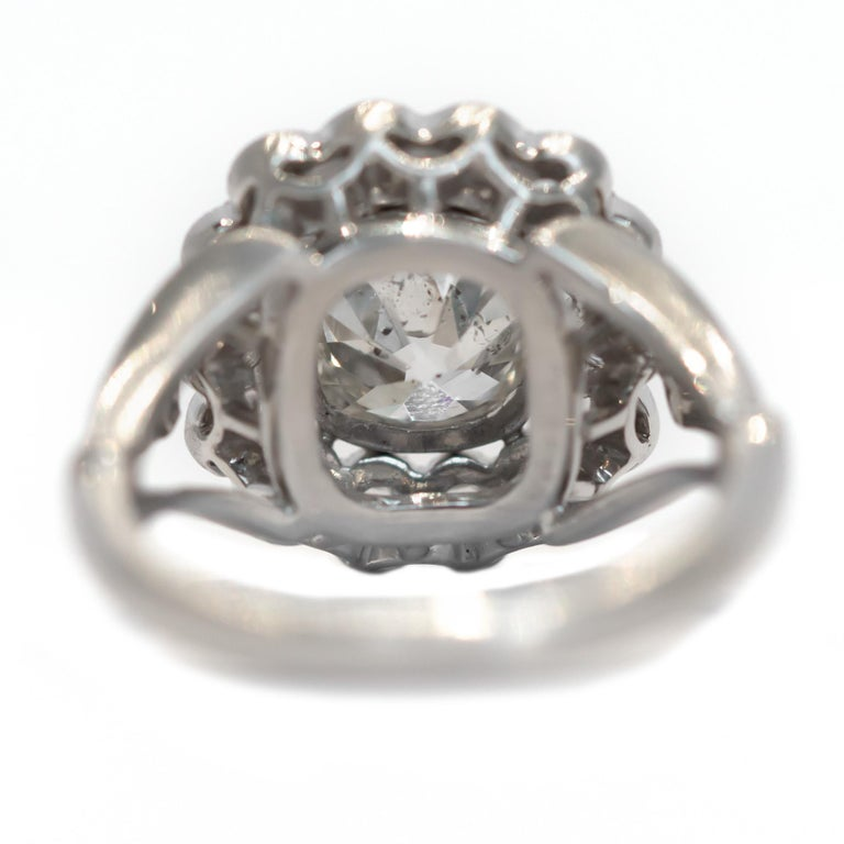 GIA Certified 1.20 Carat Diamond Platinum Engagement Ring In Good Condition For Sale In Hicksville, NY