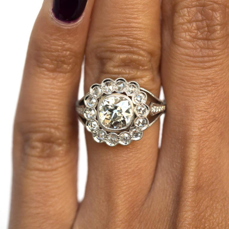 Women's or Men's GIA Certified 1.20 Carat Diamond Platinum Engagement Ring For Sale