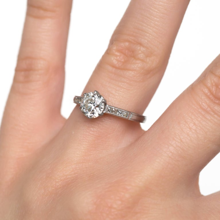 GIA Certified 1.20 Carat Diamond Platinum Engagement Ring For Sale 1