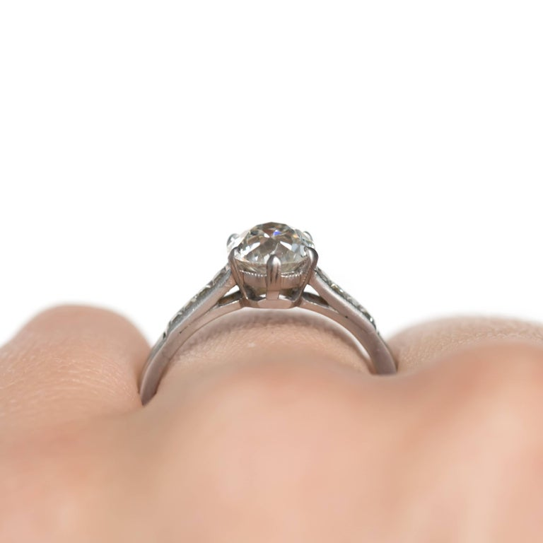 GIA Certified 1.20 Carat Diamond Platinum Engagement Ring For Sale 2