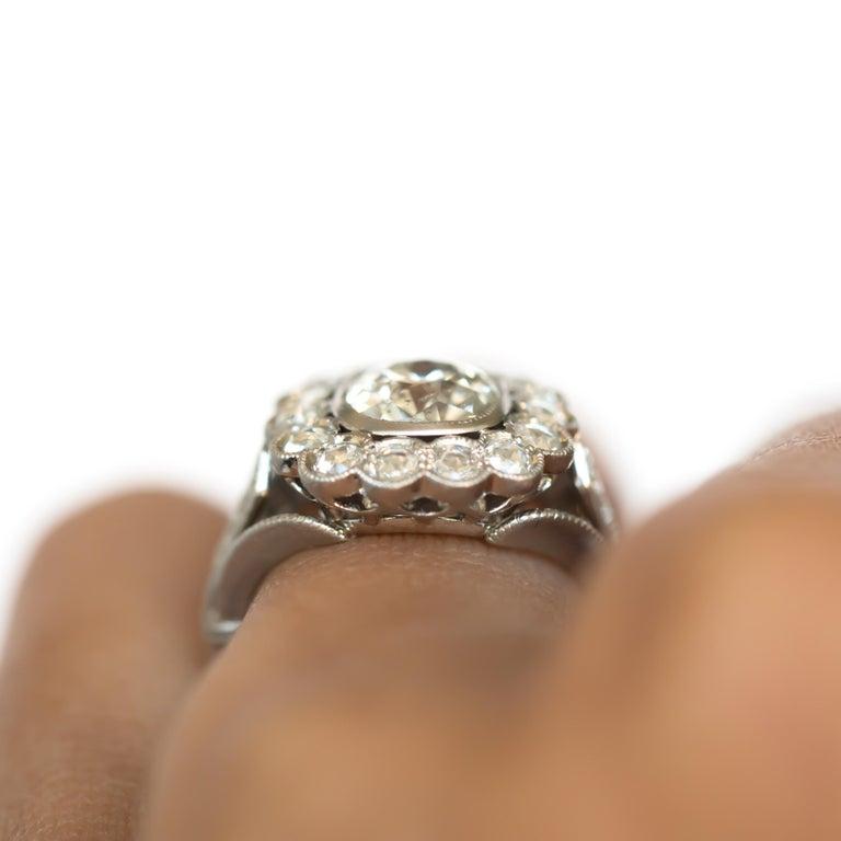 GIA Certified 1.20 Carat Diamond Platinum Engagement Ring For Sale 2