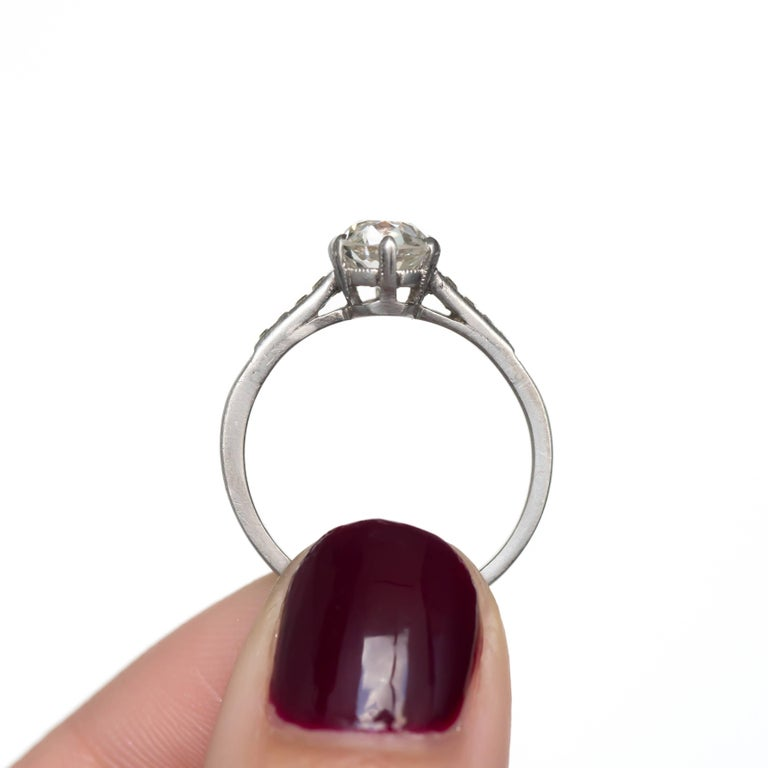 GIA Certified 1.20 Carat Diamond Platinum Engagement Ring For Sale 3