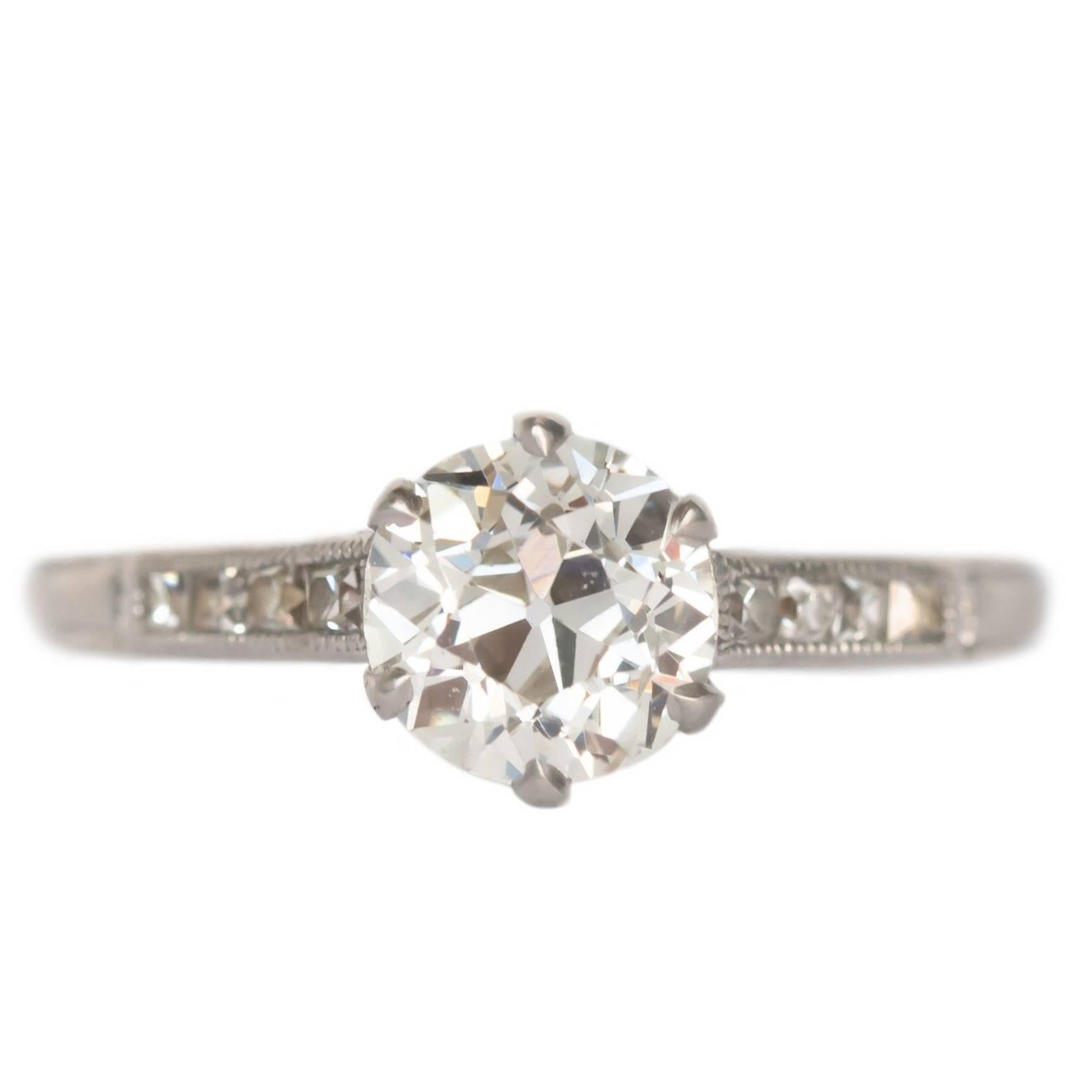 GIA Certified 1.20 Carat Diamond Platinum Engagement Ring