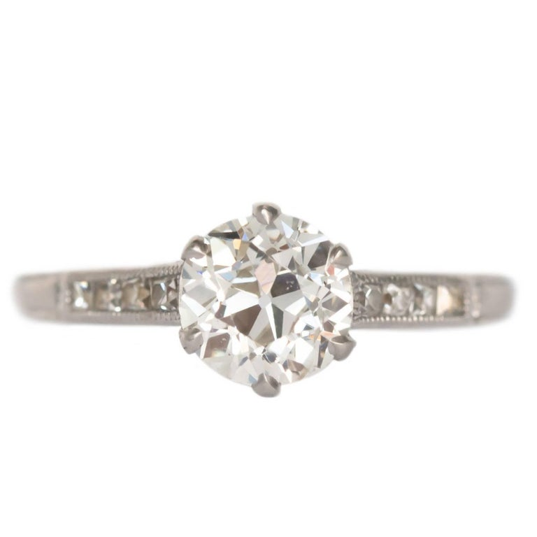 GIA Certified 1.20 Carat Diamond Platinum Engagement Ring For Sale