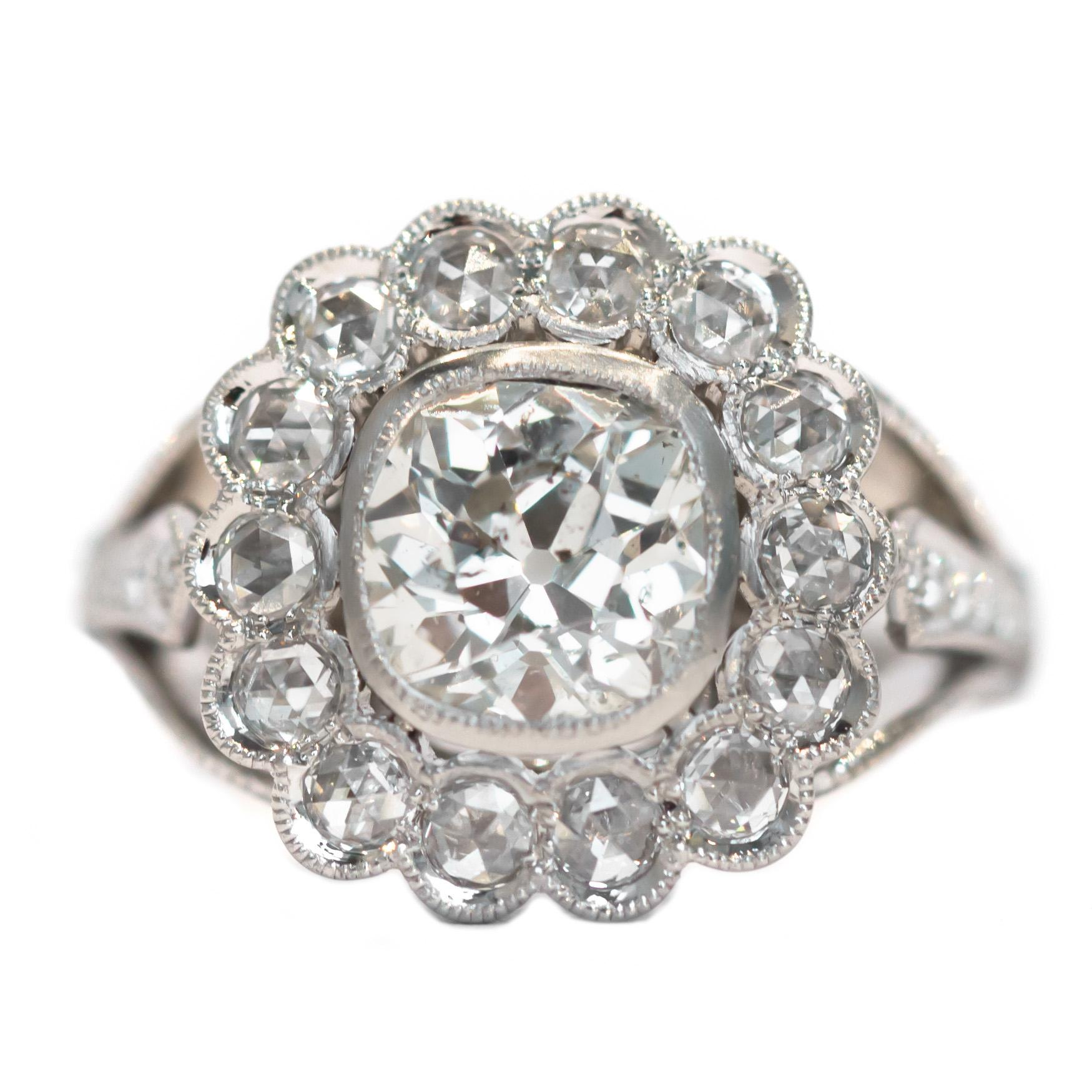 GIA Certified 1.20 Carat Diamond Platinum Engagement Ring