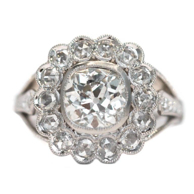 GIA Certified 1.20 Carat Diamond Platinum Engagement Ring For Sale