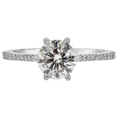 GIA Certified 1.20 Carat Round Diamond Six Prong Engagement Ring