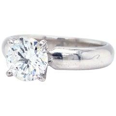 GIA Certified 1.20 Carat Round Diamond Solitaire 14 Karat Gold Engagement Ring