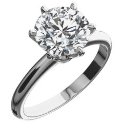 GIA Certified 1.21 Carat Ideal Excellent Cut F SI2 Diamond Engagement Ring