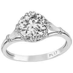 GIA Certified 1.22 Carat Diamond Platinum Engagement Ring