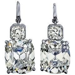GIA Certified 12.41 Carat Vintage Oscar Heyman Earrings