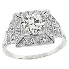 GIA Certified 1.25 Carat Diamond Engagement Ring