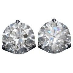 ISSAC NUSSBAUM NEW YORK GIA Certified 12.71 Carat Diamond Stud Earrings