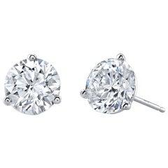 GIA Certified 12.71 Carat Diamond Stud Earrings