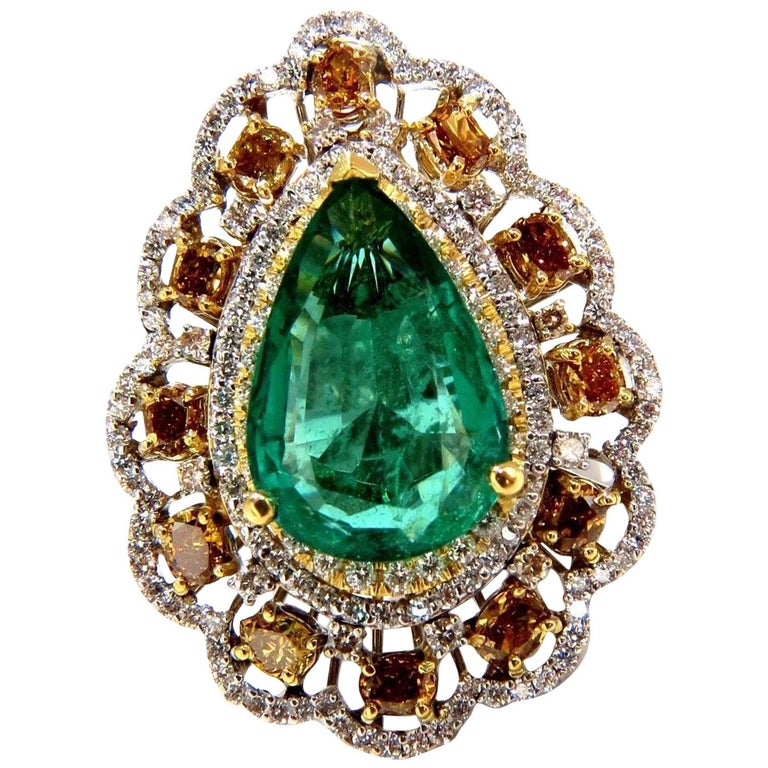 Gia Certified 12 77ct Natural Emerald Fancy Colors
