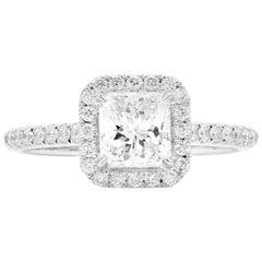 GIA Certified 1.28 Carat Natural Untreated Diamond Engagement Wedding Ring
