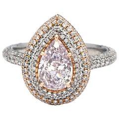 GIA Certified 1.29 Carat Pink Diamond Ring