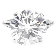 GIA Certified 13 Carat Round Brilliant Cut Diamond Ring