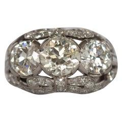GIA Certified 1.30 Carat Diamond Platinum Engagement Ring