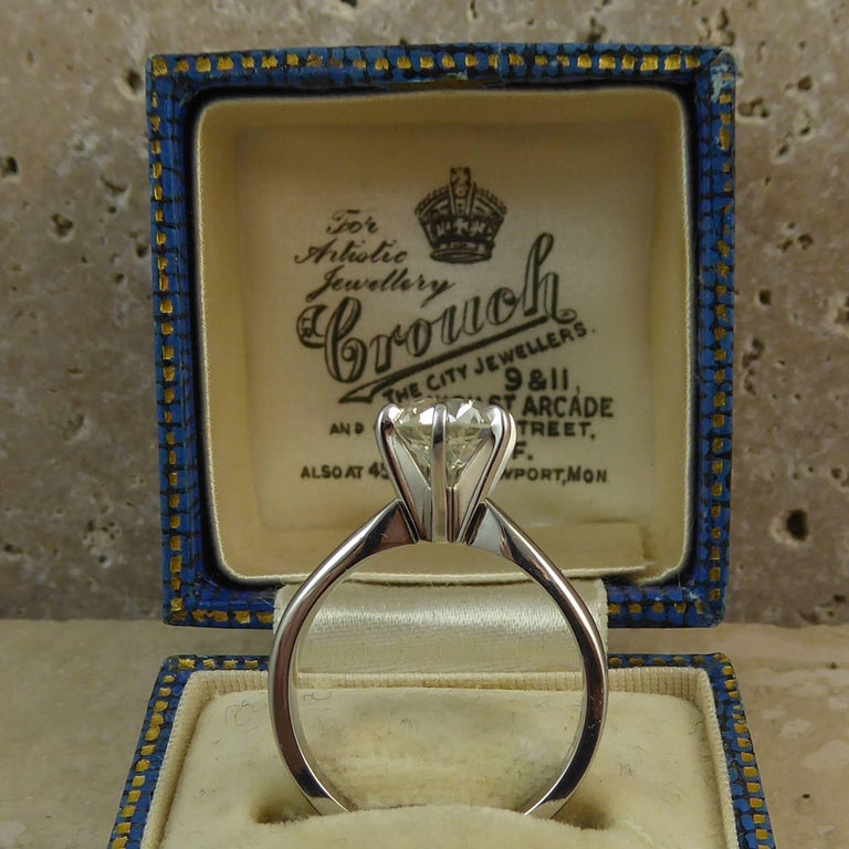 Old European Cut GIA Certified 1.31 Carat Diamond Engagement Ring, Solitaire Setting, Platinum For Sale