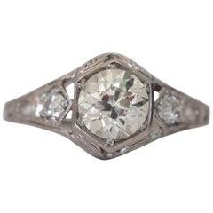 GIA Certified 1.31 Carat Diamond Platinum Engagement Ring