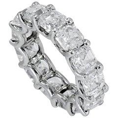 GIA Certified 13.17 Carat Asscher-Cut Diamond Platinum Wedding Band