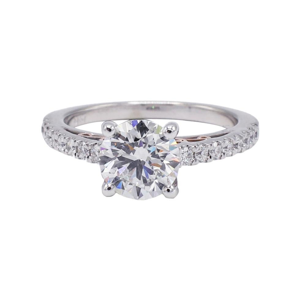 GIA Certified 1.33 Carat G VS2 Round Diamond Engagement Ring