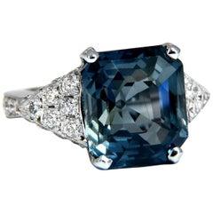 GIA Certified 13.33 C Natural No Heat Sapphire Diamond Ring Unheated 14 Karat